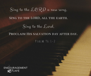 Sing to the LORD a new song,